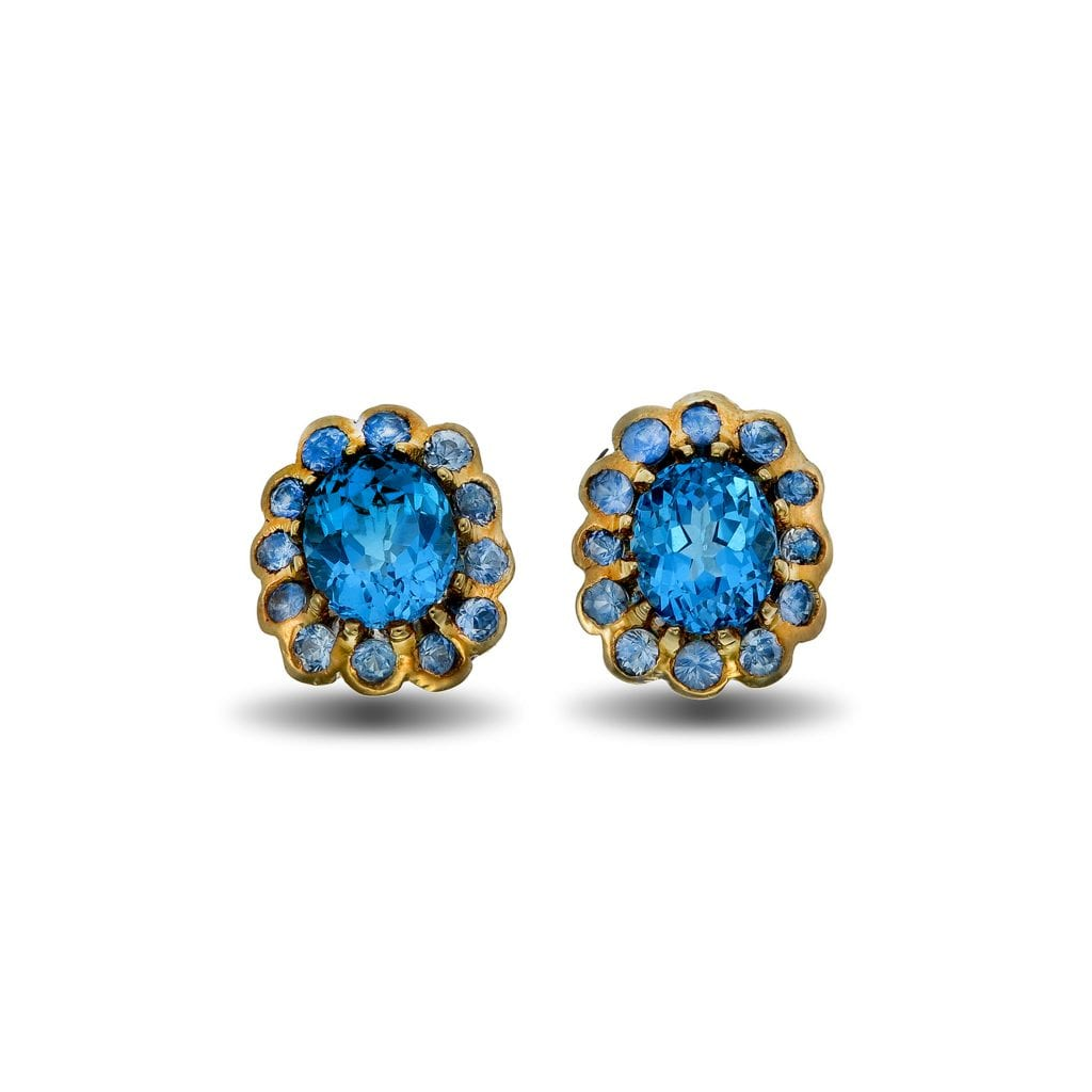 fashion crystal earrings dangle water multi elegant earring new product color exquisite bright blue drop jewelry